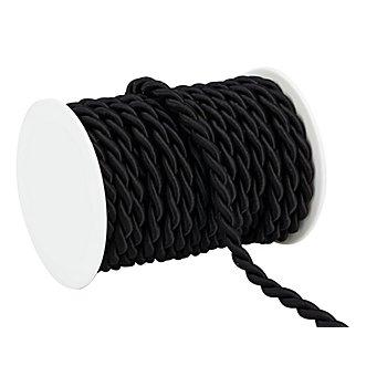 Kordel, schwarz, 8 mm, 10 m