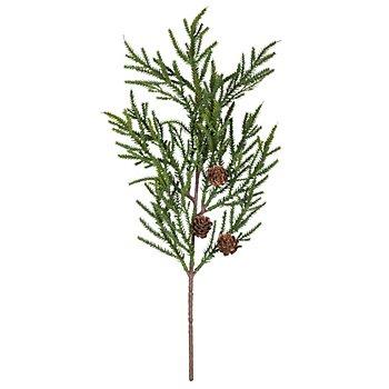 Scheinzypressenzweig mit Zapfen, 42 cm