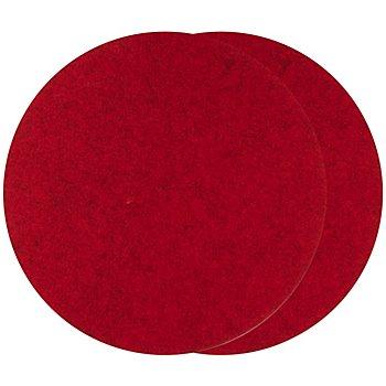 Set de table en feutrine, rouge, 2 pièces