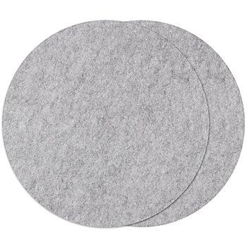 Set de table en feutrine, gris, 2 pièces