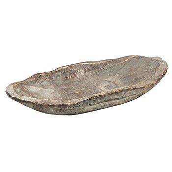 Coupelle en bois, gris délavé, 45,5 x 19 cm