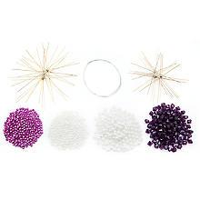 Drahtsterne-Set, lila-weiß, 10 Stück