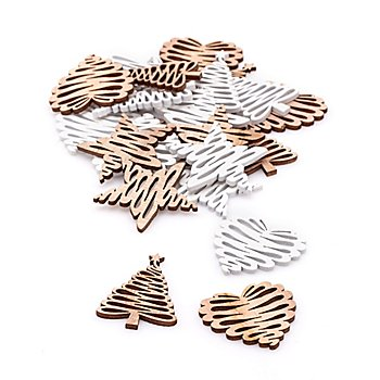 Streuteile 'Weihnachten', 2 - 3,5 cm, 24 Stück