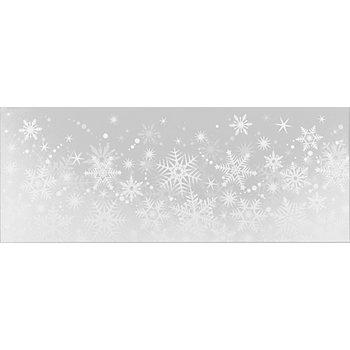 Fensterbild 'Schneeflocke', 20,5 x 53 cm