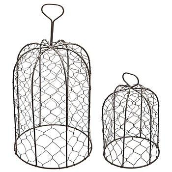 Set de cloches en fil métallique, anthracite, 2 pièces