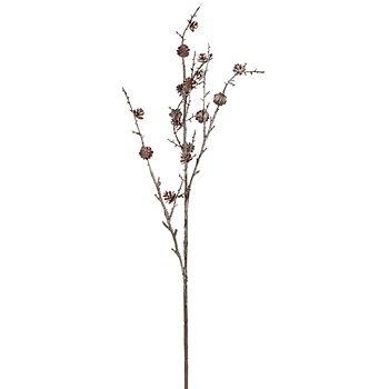 Deko-Ast mit Zapfen, beschneit, 89 cm