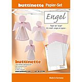 """Papierset """"Engel"""", rosa-silber, 9 Engel"""