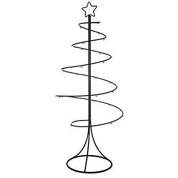 Sapin de Noël en métal, noir, 85 cm