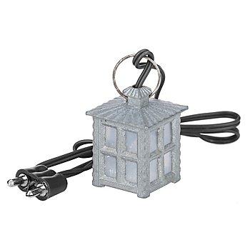 Kleine Lampe aus Metall, 2,1 x 2,1 x 3 cm