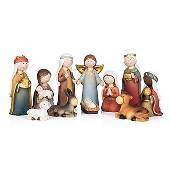 Set de figurines enfantines pour crèche, 2,5 - 11 cm