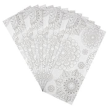 Laternen-Zuschnitt 'Mandalas', 20 x 50 cm, 25 Stück