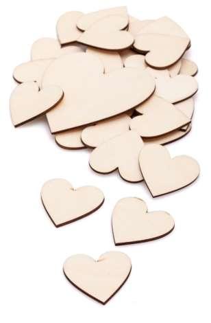 Deko Herzen 40 Stück Holzherz Heart Holz Herz Hochzeit,Taufe Basteln Blau