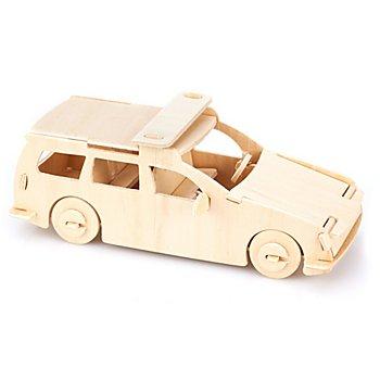 Kit créatif en bois 'voiture de police', 18 x 7 x 7,5 cm
