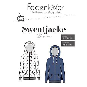 Fadenkäfer Schnitt 'Sweatjacke für Damen'