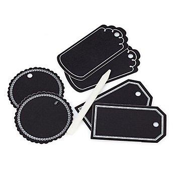 Folia Étiquettes ardoise à accrocher avec stylo, 6 pièces