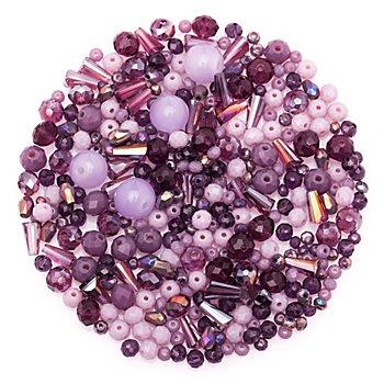 Perles à facettes en verre, fruits des bois, 3 - 9 mm, 25 g