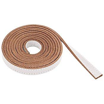Lederband, weiß, 1 cm, 1,5 m