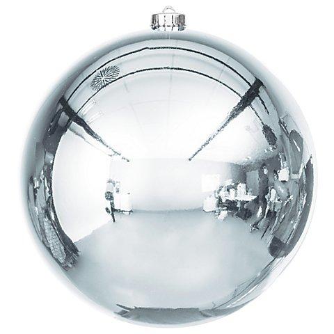Image of Weihnachtskugel aus Kunststoff, stahlblau, 20 cm Ø