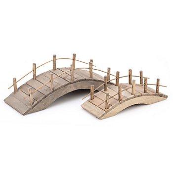 Brücken aus Holz, 11 cm und 15 cm, 2 Stück