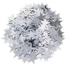 Paillettes 'étoiles', argent, 50 g