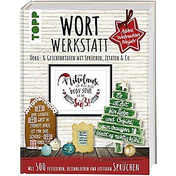 Buch 'Wortwerkstatt – Deko- und Geschenkideen mit Sprüchen, Zitaten & Co.'
