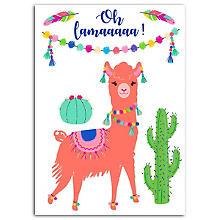 Set de motifs à repasser 'lama', multicolore