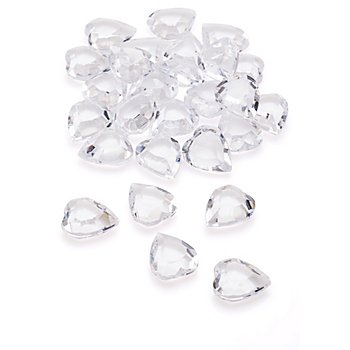 Deko-Diamanten 'Herzen', facettiert, 100 ml
