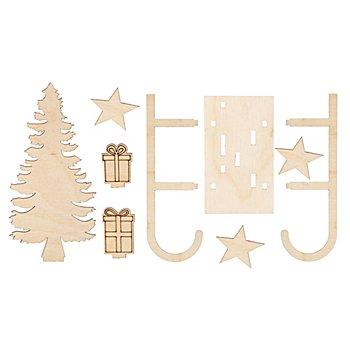 Kit créatif en bois 'rêve d'hiver', 12 x 5 x 16 cm