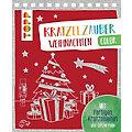 """Buch """"Kratzelzauber – Weihnachten color"""""""