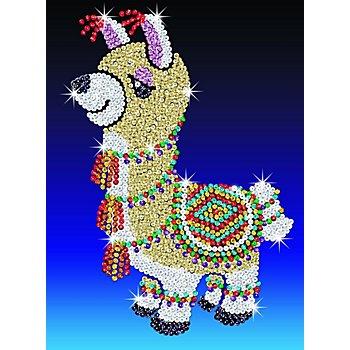 Sequin Art Paillettenbild 'Lama', 25 x 34 cm