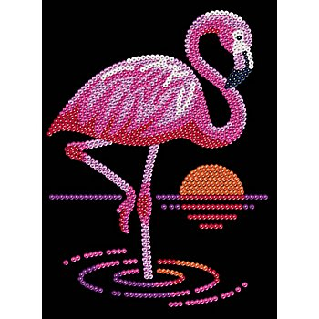 Sequin Art Paillettenbild 'Flamingo', 25 x 34 cm