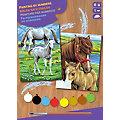 "Malen nach Zahlen mit Acrylfarbe ""Pferde"", 2 Motive"