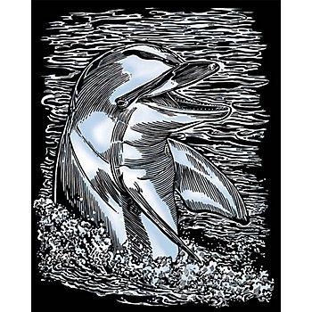 Artfoil Kratzbild 'Delfin', 25 x 20 cm