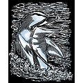 """Artfoil Kratzbild """"Delfin"""", 25 x 20 cm"""