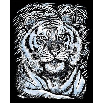Artfoil Image à gratter 'tigre', 25 x 20 cm