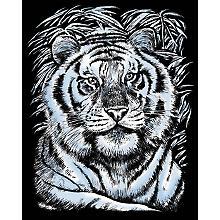 Artfoil Kratzbild 'Tiger', 25 x 20 cm