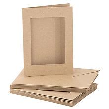 Recycling-Passepartoutkarten, rechteckig, A6 / C6, je 10 Stück