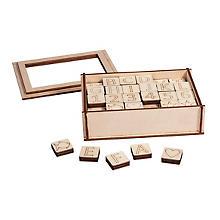 Holz-Buchstaben und Zahlen, 120 Stück