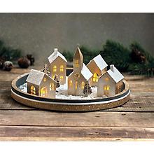 Kit créatif en papier 'village illuminé', 5 pièces