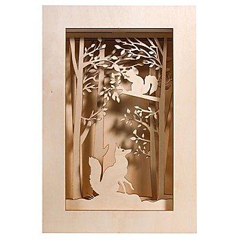 Kit créatif en bois - cadre 3D 'forêt', 20 x 30 x 6,6 cm