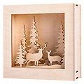"Holzbausatz 3D-Motivrahmen ""Winterland"", 20 x 20 x 6,6 cm"