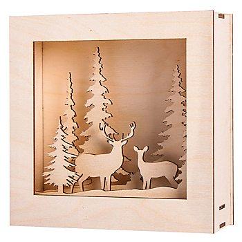 Holzbausatz 3D-Motivrahmen 'Winterland', 20 x 20 x 6,6 cm
