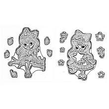 Set de tampons en silicone 'Lilly Luna', 2 pièces