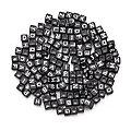 Buchstabenwürfel, schwarz-weiss, 6 mm, 160 Stück