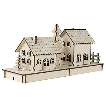 Holzbausatz 2 Häuschen