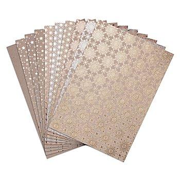 Heyda Bloc de papier kraft 'éclat d'étoiles', 21 x 29,7 cm, 12 feuilles