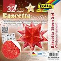 """Folia Faltblätter """"Bascetta-Stern"""", rot-gold, 20 x 20 cm, 32 Blatt"""