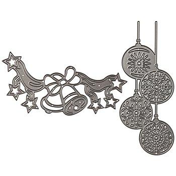 Stanzschablonen-Set 'Weihnachten II', 2 Stück