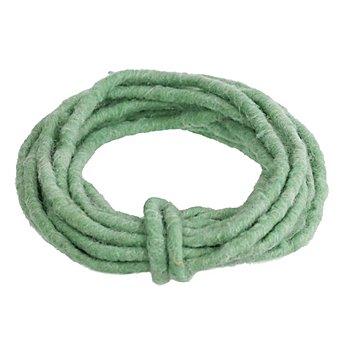 Cordelette en laine feutrée, vert menthe, env. 7 mm, 5 m