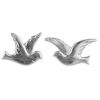 Wachsmotiv 'Taubenpaar' silber